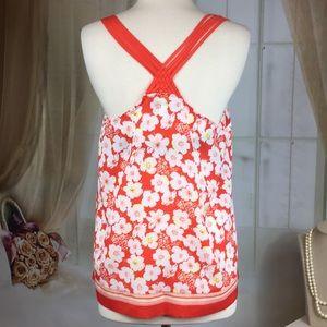 Laura Conrad Tops - Laura Conrad Orange Floral Summer Blouse